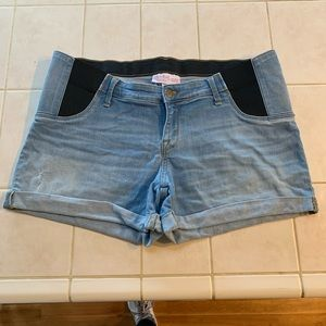 Isabel maternity jean shorts size 14